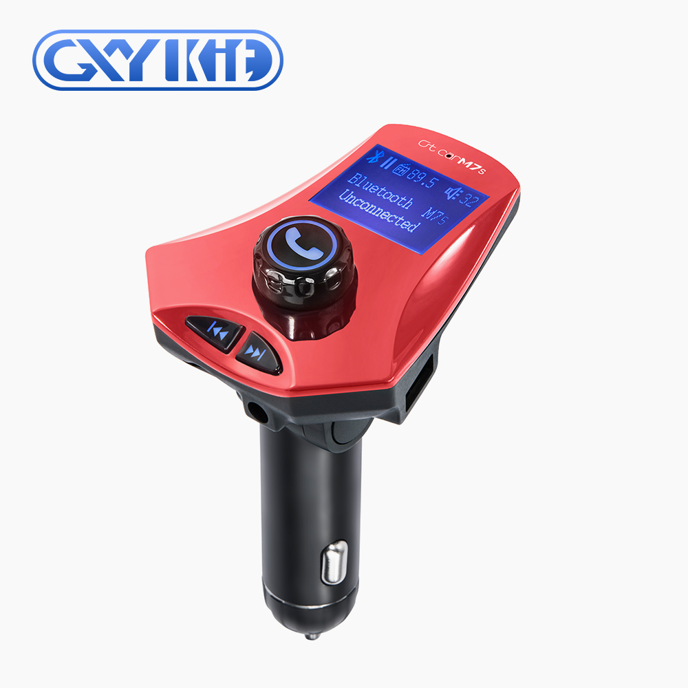 GXYKIT Car Stereo Bluetooth Transmitter M7S Car MP3 Player USB Charger