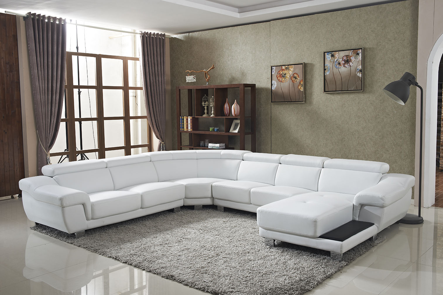 New Design Modern Style Leather Sofa Set
