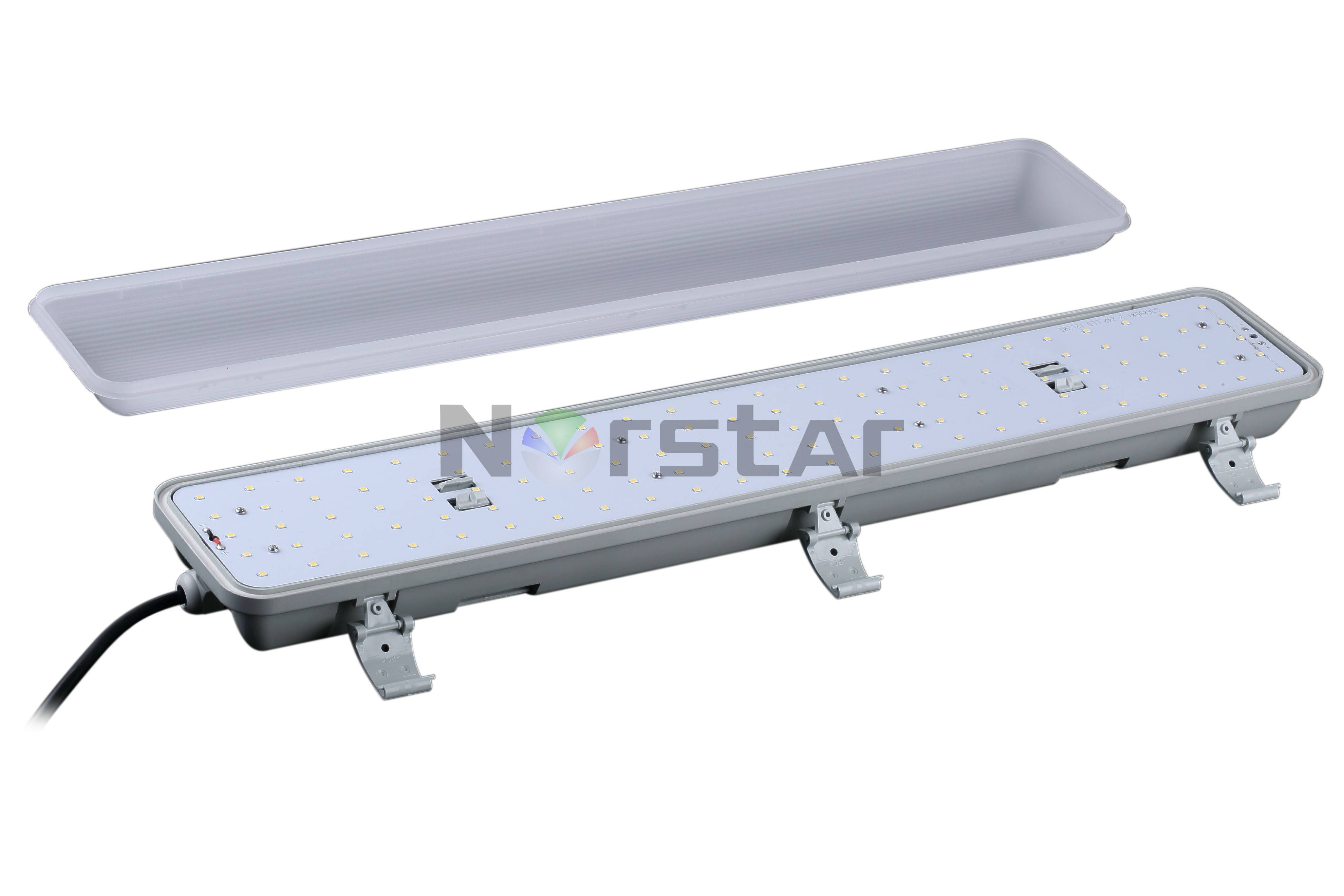 IP65 Led Tri-proof industrial Ceiling Light Fittings 600mm/1200mm/1500mm