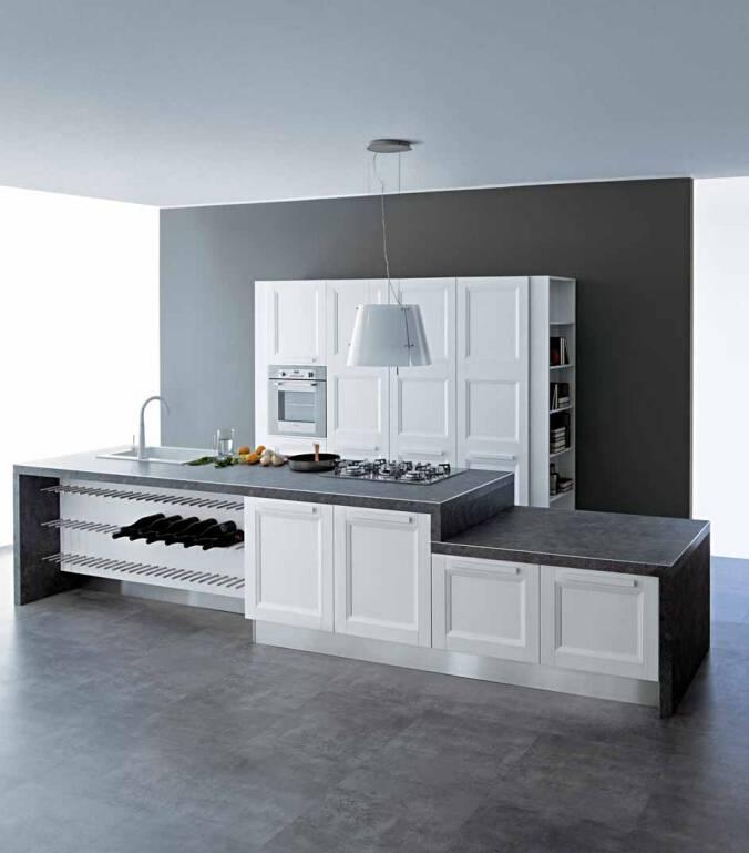 2015 Welbom White Elegant Customized High-End Kitchen Cabinet