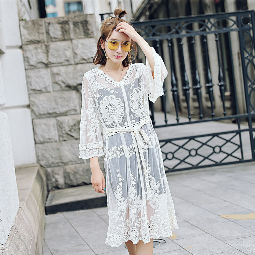 Lace Embroidery Lace Pants Lace Holder Dress Sleeve Lace One Piece Sleeve Lace One Piece