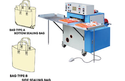 ZX-HB Automatic Soft Handbag Loop  Bag making Machine