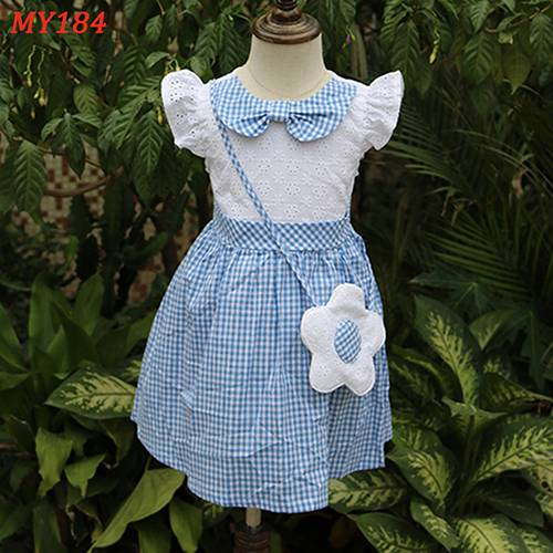 Wholesale alibaba bow neck design baby dresses cute little girl clothing