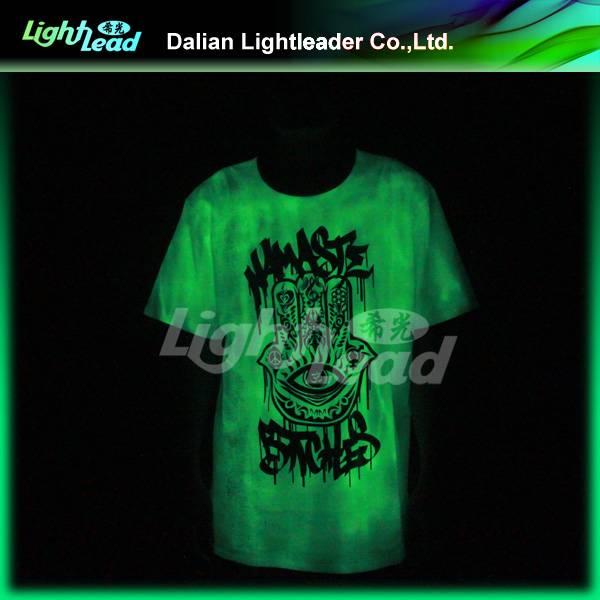 wholesale luminescent self glow t shirt