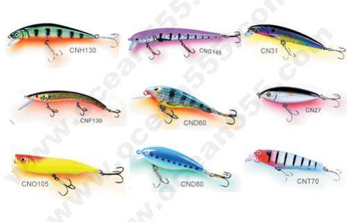 rigid plastic lure,fishing tackle