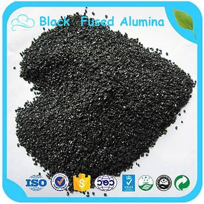 Black Fused Alumina / Black Aluminum Oxide Powder / Corundum For Sandblsting Abrasive