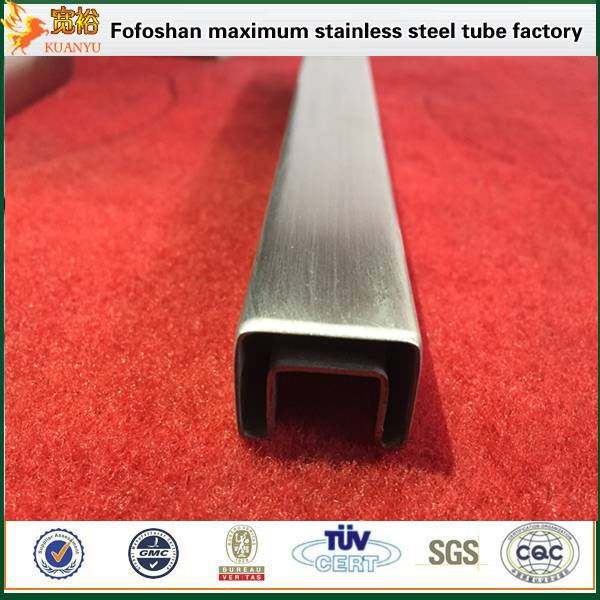 precio acero inoxidable 316 stainless steel square slot pipe for handrails china