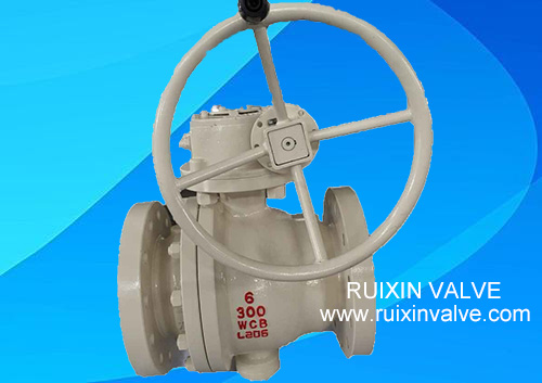 API 6D 2-pc Trunnion Mounted Casting Steel RF Ball Valve Manual China Manufacturer