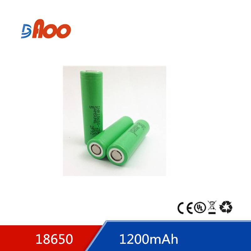 Li-ion 18650 battery pack 3.7V 1200mAh rechargeable battery