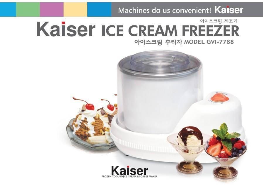 Ice cream freezer.