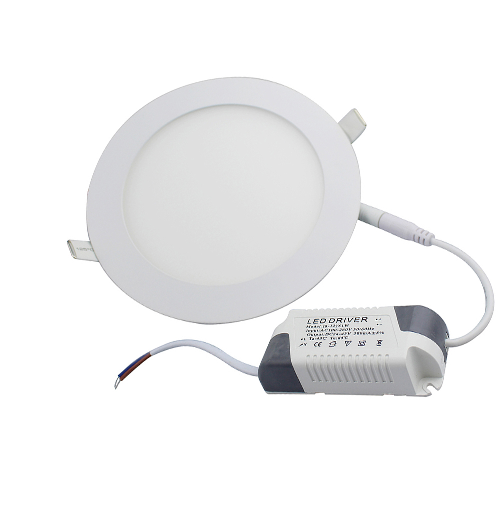 18W Round LED Panel Light AC85-265V Ultra-thin Led Ceiling Recessed in Downlight Lamp with LED Drive