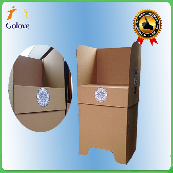 Recyclable Portable And Collapsible Cardboard Voting Booth
