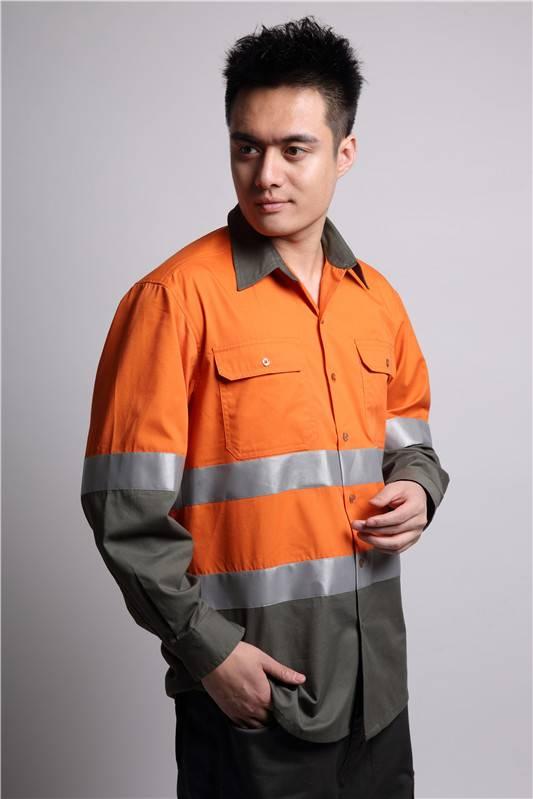 2016 new stye reflective engineering uniform workwear shirts
