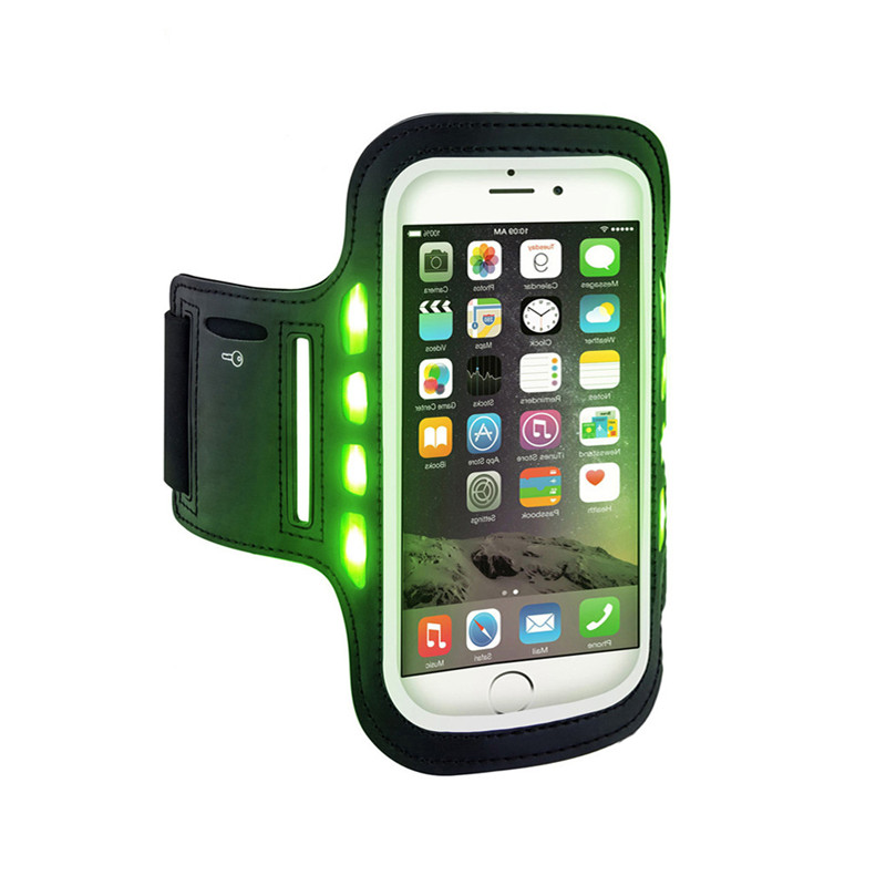 Waterproof Cellphone Bag Case, Phone Cover LED Sports Armband for IPhone 6