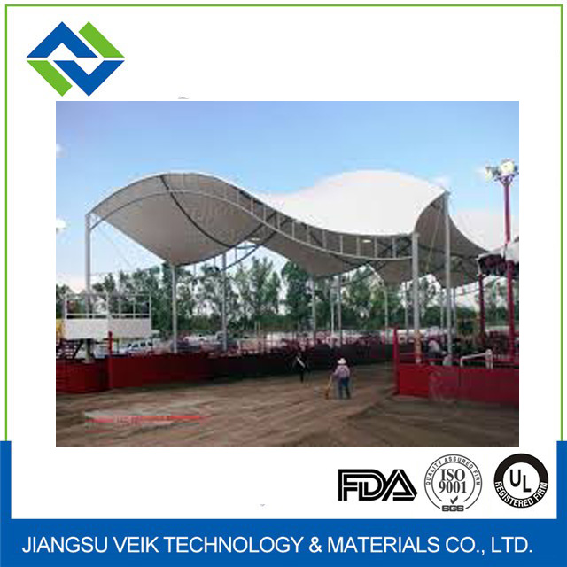 PVC PTFE architectural membrane teflon coated fabric roof