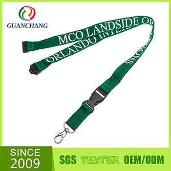 High quality wholesale heat transffered neck lanyard with badge holder