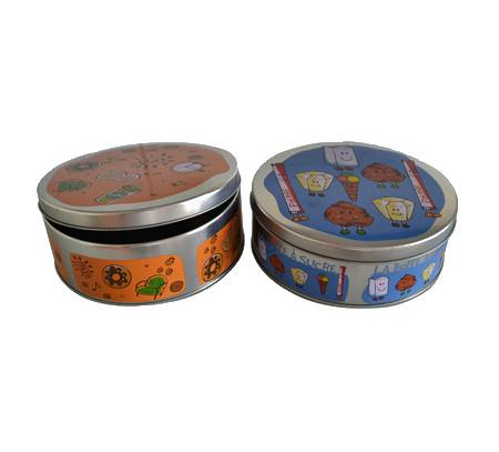 Wholesale custom delicate rectangular food tin box with handle