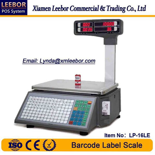 Electronic Barcode Label Printing Scale, Supermarket Counting Price Computing Weighing Instrument
