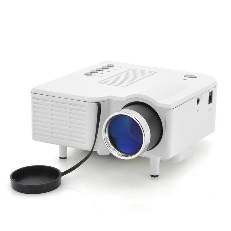 Mini AV USB Projector For Home cinema Teaching 60 Inch image 320x240 pixels with USB SD Slot AV HDMI