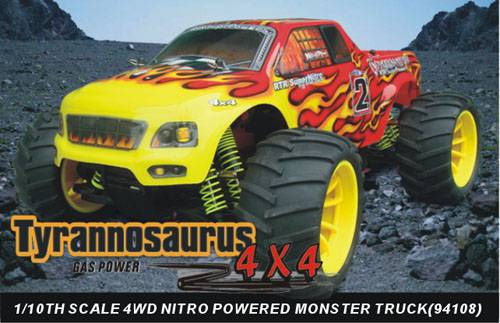 1:10th scale nitro gas powered monster truck
