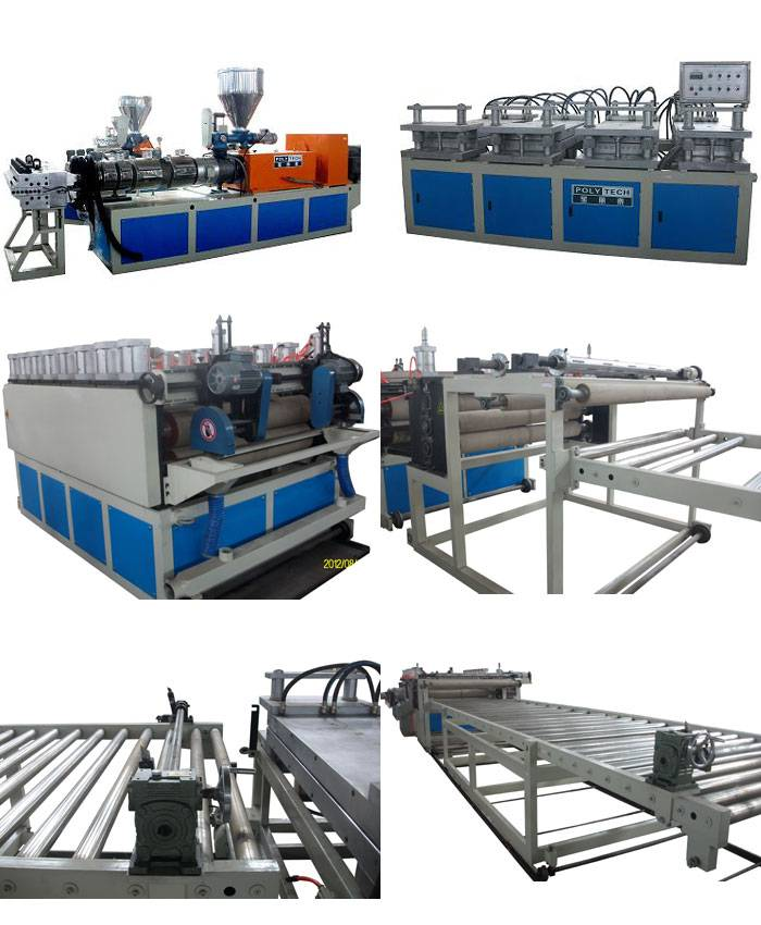High performance Plastic WPC Foam Making Machine / Foam Sheet Extrusion Line with CE