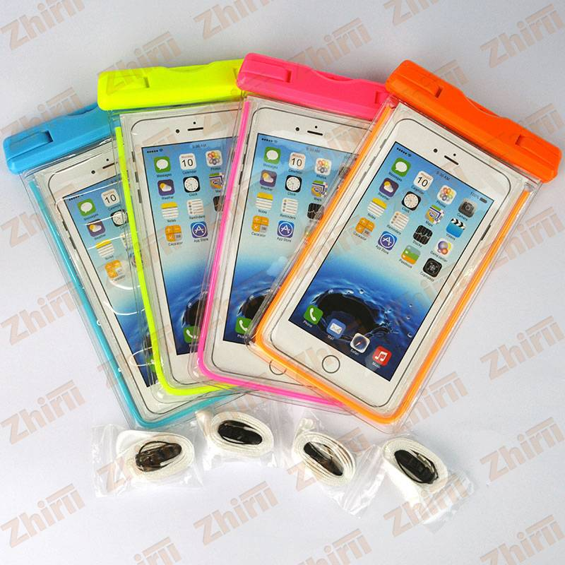 Hot sale High quality 6 inch PVC waterproof dry bag for universal mobile phones