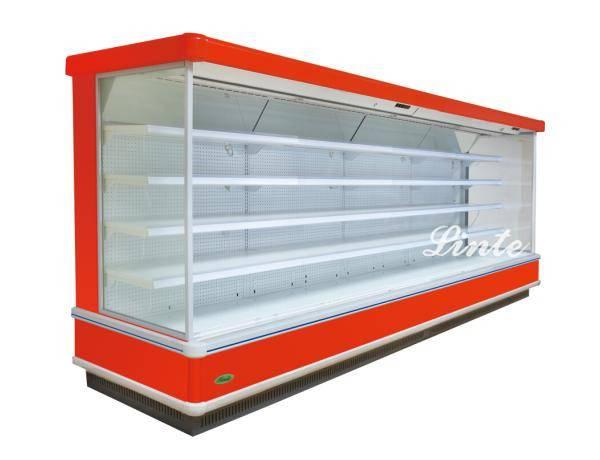 upright multideck open chiller supermarket refrigeration equipment