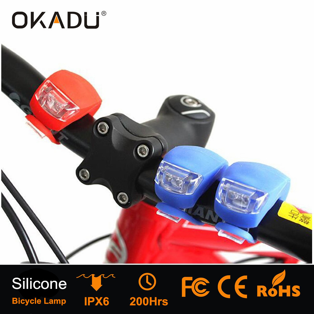 OKADU BL06 Multifunction Long Runtime LED Silicon Bike Wheel Light / Tail Light / Safty Light