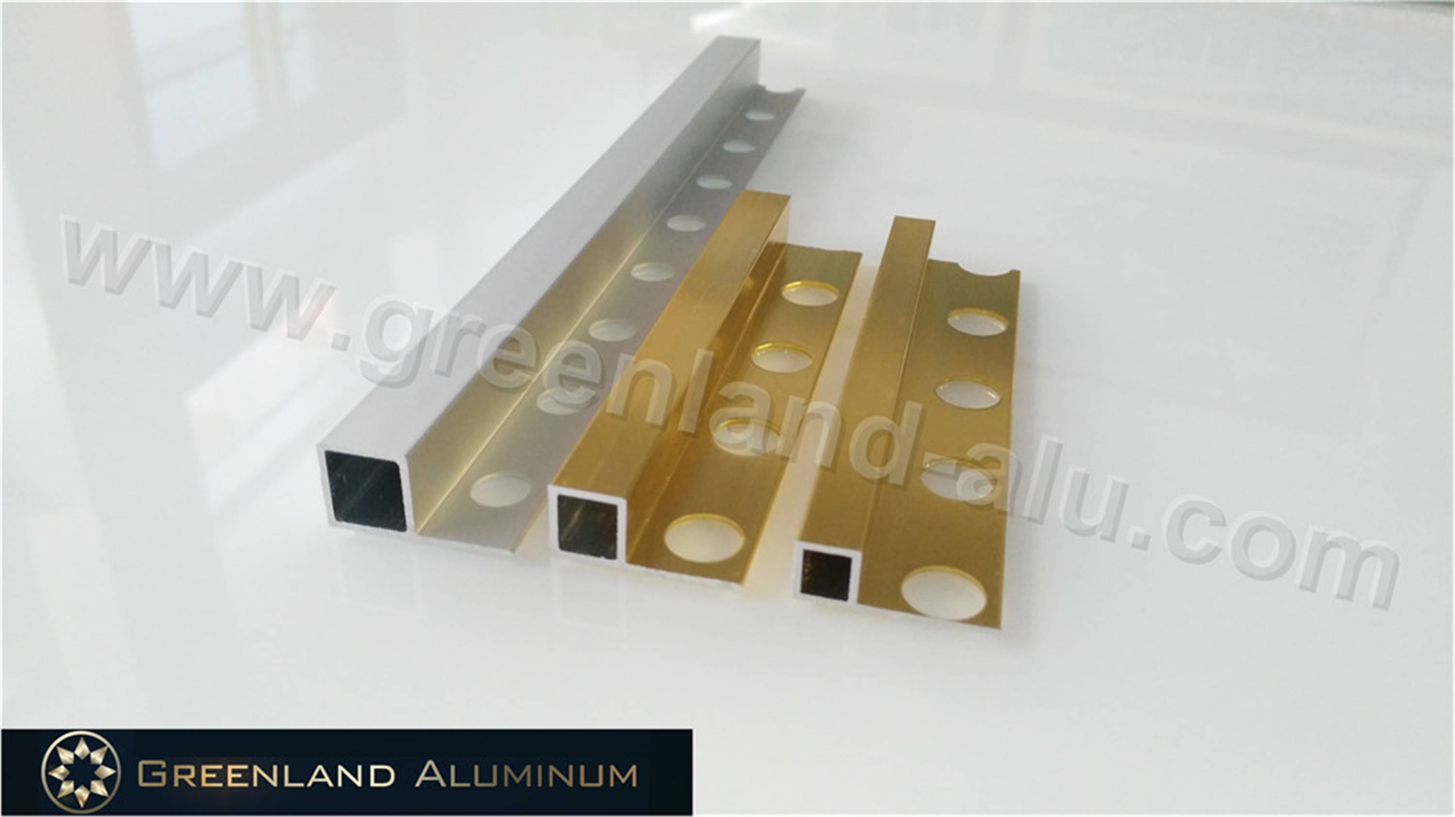 Aluminum Profile Tile Trim with Silver Gold Anodized Color