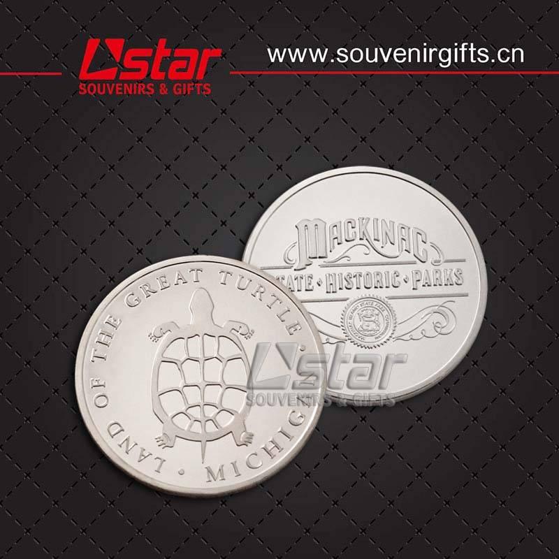 Metal souvenirs coin