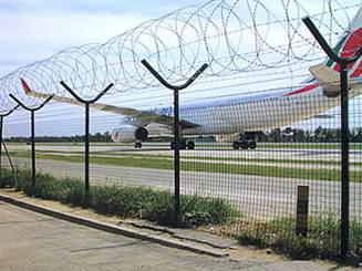Baberd wire mesh fence