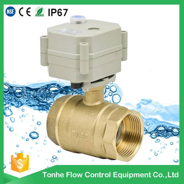 """1 1/4"""" hot brass electric actuator water ball valve for water supply T32-B2"""