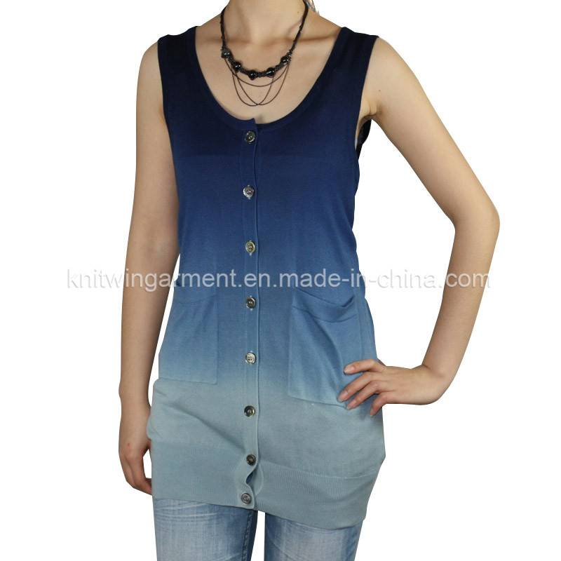 Fashion Women Knitted  Sleeveless Sweater cardigan