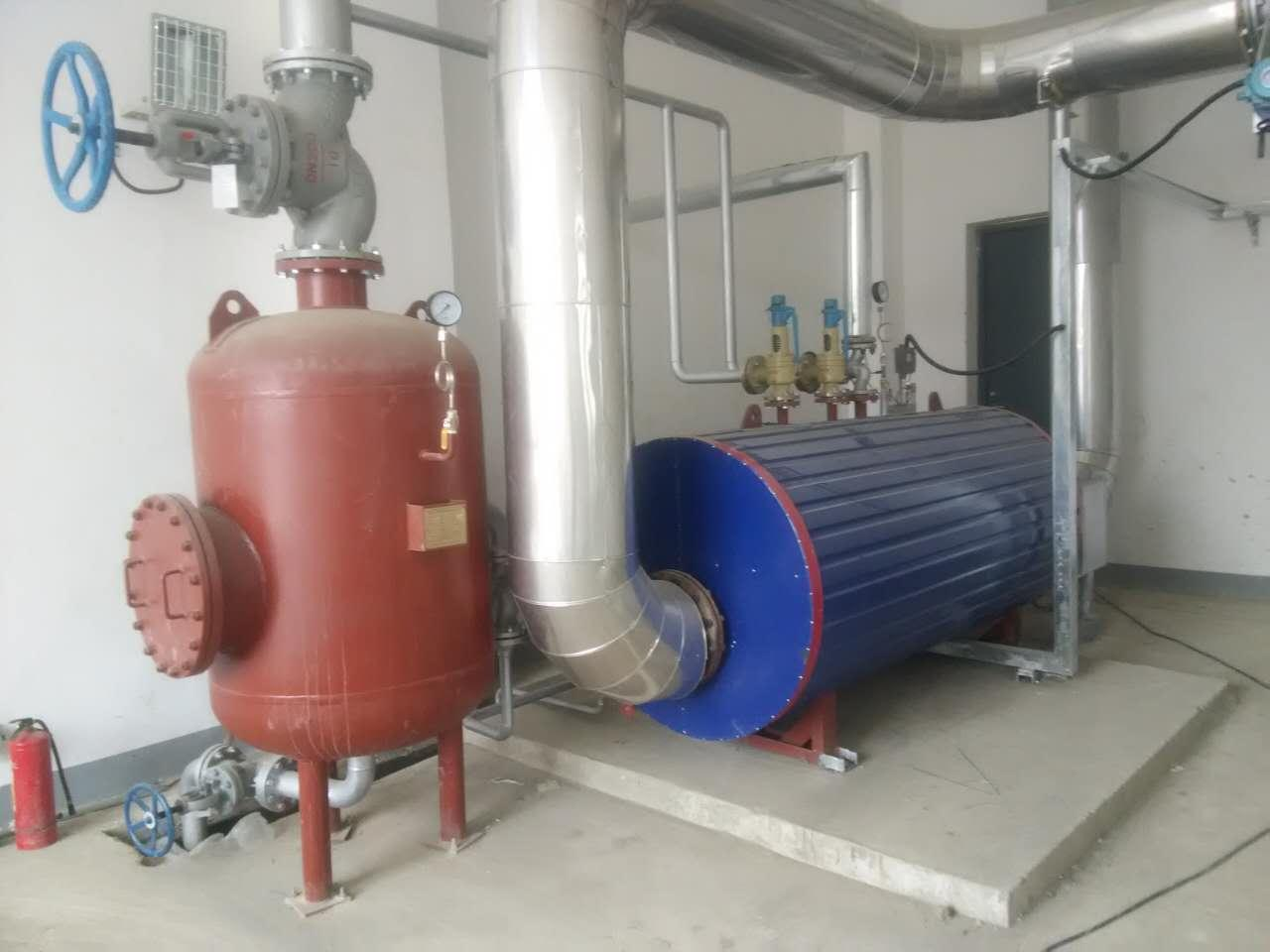 Flue Gas Waste Heat Recovery Boiler For 1200KW Biogas Generator Set