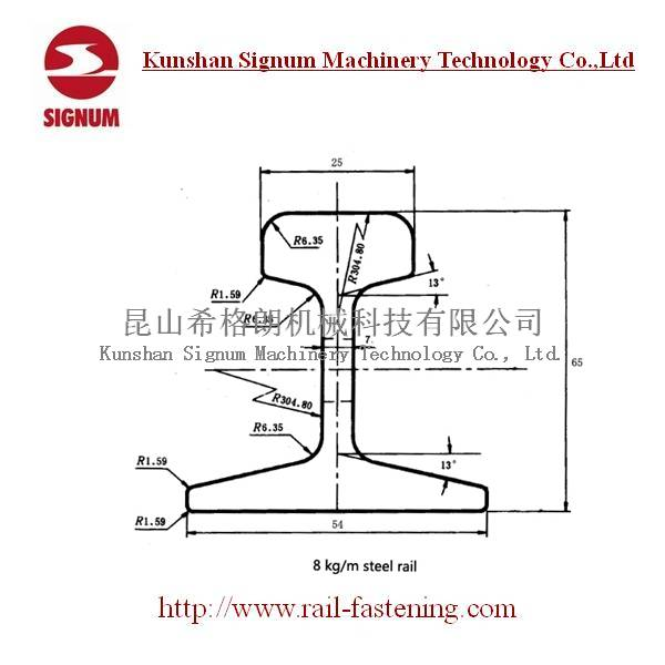 Chinese Standard 8kg Light Rail Steel Rail