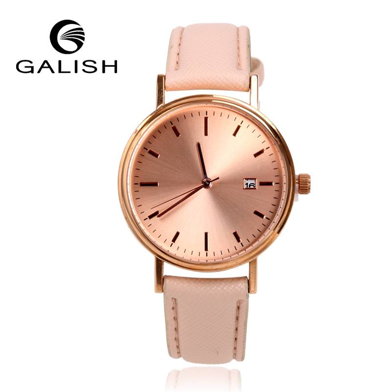 simple gold fashion lady watch from factory