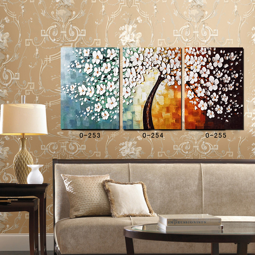 Oil paintings canvas abstract wall art picture home decoration palette knife canvas prints