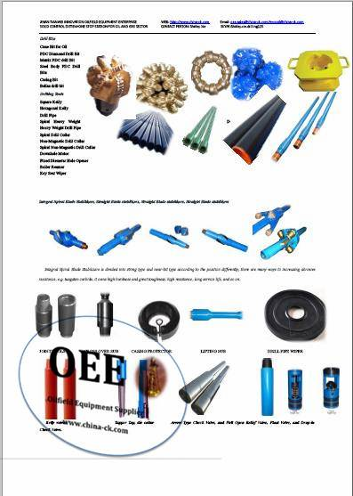 Down hole Tools-Drill bits, Drilling Jar, Stabilizer, Subs, float valves and float show