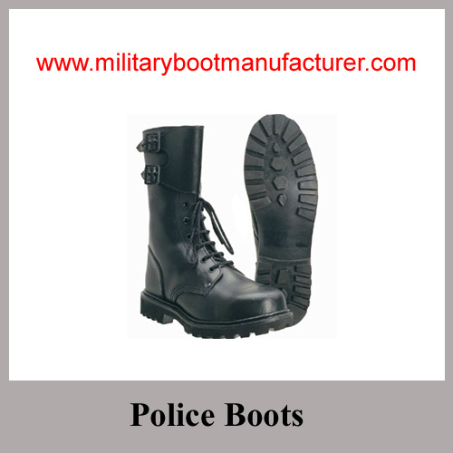 Wholesale China Made Black Full Grain Leather Goodyear Military Combat Boot used for Togo Army