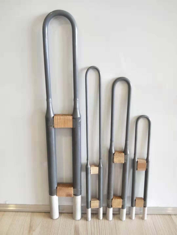 High temperature 1700C 1800C U W shape Molybdenum Disilicide MoSi2 rod heater heating element