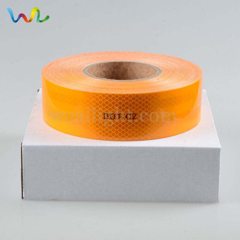 Reflective Material, orange reflective tape, red reflective tape