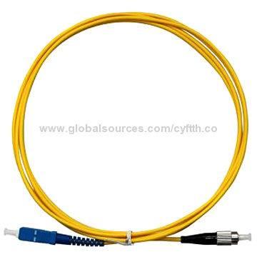 SC-FC Single Mode Simplex Fiber Optic Patch Cord