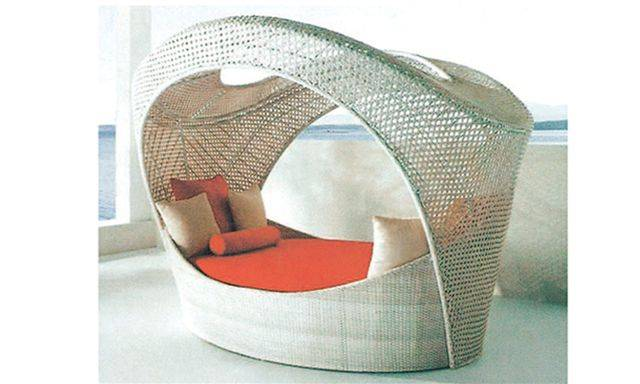 Hotel furniture daybed with canopy (R919)