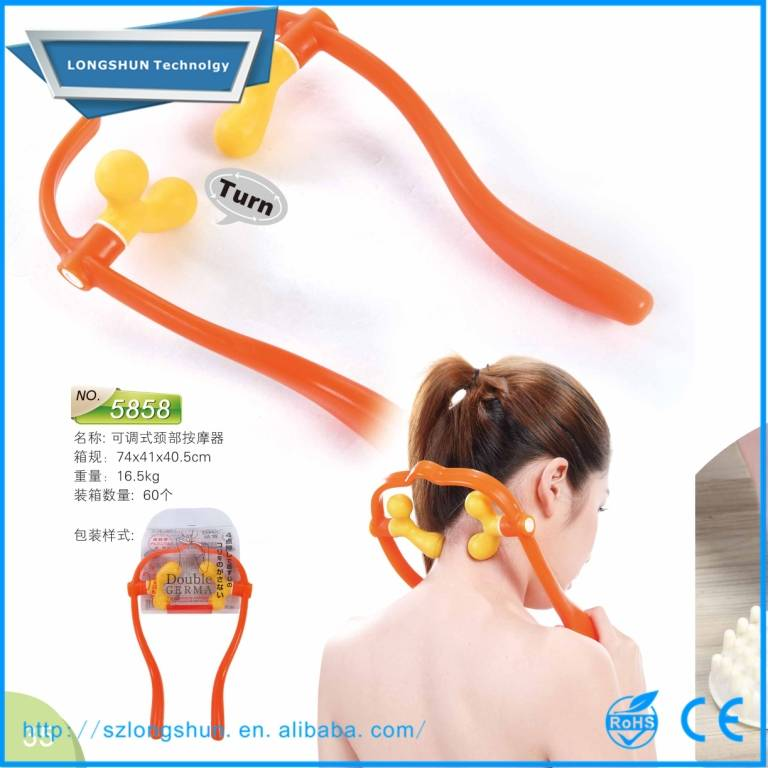 Adjustable trigger rubber therapy neck massager