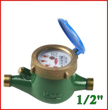 Multi Jet Dry Dial Brass Body Class B Horizontal Installation Water Meter Lxsg-15e-50e