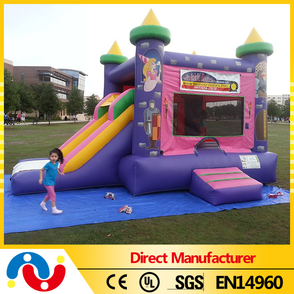 Best quality inflatable princess castle bouncy slide house