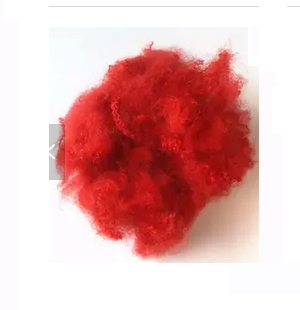 Recycled Red Polyester Staple Fiber for Home Textile
