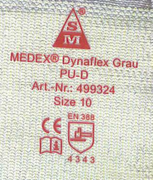 TAG-LESS IRON ON LABEL HEAT TRANSFER FOR GARMENT KNITTED WORKING GLOVES