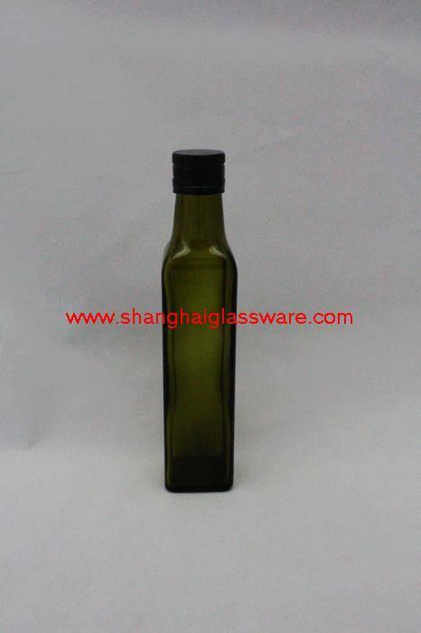250ML DARK GREEN OLIVE OIL GLASS BOTTLE