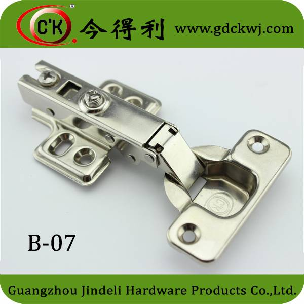 B-07 Cheap Cabinet Iron Fixed Buffering Hinge With Big Discount